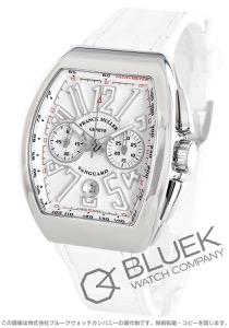 フランクミュラー ヴァンガード クロノグラフ クロコレザー 腕時計 メンズ FRANCK MULLER V45 CC DT AC BC[FMV45CCPLSSWHLZWH]