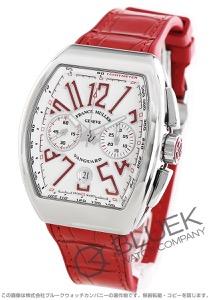 フランクミュラー ヴァンガード クロノグラフ クロコレザー 腕時計 メンズ FRANCK MULLER V 45 CC DT AC RG[FMV45CCSSWHLZRD]