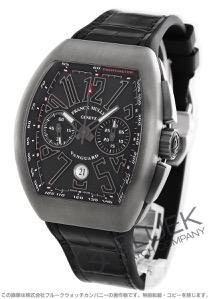 フランクミュラー ヴァンガード クロノグラフ クロコレザー 腕時計 メンズ FRANCK MULLER V45 CC DT TT BR NR[FMV45CCTINRLZBK]