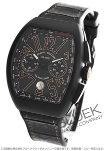 フランクミュラー ヴァンガード クロノグラフ クロコレザー 腕時計 メンズ FRANCK MULLER V 45 CC DT[FMV45CCTINRPGBKLZBK]