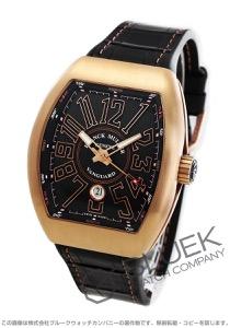 フランクミュラー ヴァンガード PG金無垢 クロコレザー 腕時計 メンズ FRANCK MULLER V45 SC DT 5N BR NR