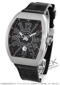 フランクミュラー ヴァンガード クロコレザー 腕時計 メンズ FRANCK MULLER V45 SC DT AC BR NR[FMV45SCBRSSBKLZBK]