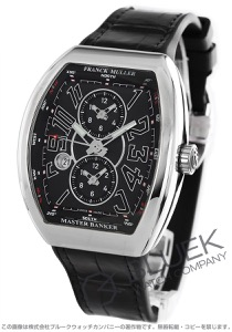 フランクミュラー ヴァンガード マスターバンカー クロコレザー 腕時計 メンズ FRANCK MULLER V45 MB SC DT AC NR[FMV45SCMBSSBKLZBK]