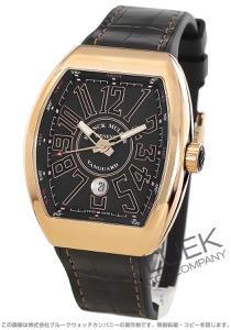 フランクミュラー ヴァンガード PG金無垢 クロコレザー 腕時計 メンズ FRANCK MULLER V45 SC DT 5N NR