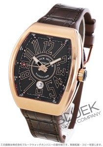 フランクミュラー ヴァンガード PG金無垢 クロコレザー 腕時計 メンズ FRANCK MULLER V 45 SC DT 5N NR