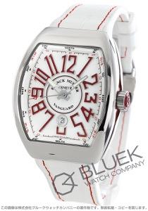 フランクミュラー ヴァンガード クロコレザー 腕時計 メンズ FRANCK MULLER V 45 SC DT AC RG[FMV45SCPLSSRDWHLZWH]