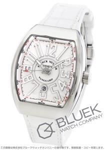 フランクミュラー ヴァンガード クロコレザー 腕時計 メンズ FRANCK MULLER V 45 SC DT AC BC[FMV45SCPLSSWHLZWHCR]