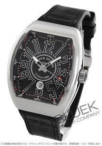 フランクミュラー ヴァンガード クロコレザー 腕時計 メンズ FRANCK MULLER V45 SC DT AC NR[FMV45SCSSBKLZBK]