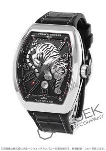 フランクミュラー ヴァンガード タイガー リミテッドエディション 世界限定188本 クロコレザー 腕時計 メンズ FRANCK MULLER V45 SC DT AC NR LIMITED EDITION TIGER[FMV45SCTGSSBKLZBK]