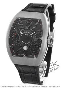 フランクミュラー ヴァンガード クロコレザー 腕時計 メンズ FRANCK MULLER V 45 SC DT[FMV45SCTIBKLZBK]
