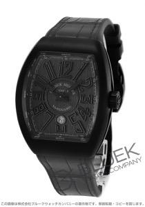 フランクミュラー ヴァンガード クロコレザー 腕時計 メンズ FRANCK MULLER V 45 SC DT[FMV45SCTINRBKLZBK]
