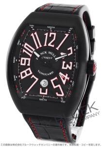 フランクミュラー ヴァンガード クロコレザー 腕時計 メンズ FRANCK MULLER V 45 SC DT[FMV45SCTINRRDBKWHLZBK]