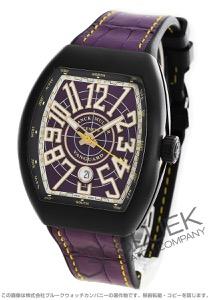 フランクミュラー ヴァンガード クロコレザー 腕時計 メンズ FRANCK MULLER V45 SC DT CIR TT NR BR VL
