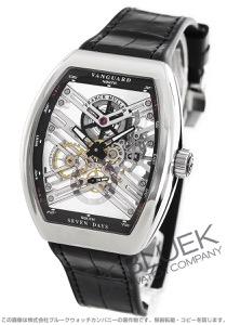 フランクミュラー ヴァンガード 7デイズ パワーリザーブ スケルトン クロコレザー 腕時計 メンズ FRANCK MULLER V 45 S6 SQT AC NR