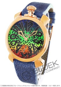 ガガミラノ マヌアーレ48MM アニマーレ 世界限定300本 ガルーシャレザー 腕時計 メンズ GaGa MILANO 5011ART.03S