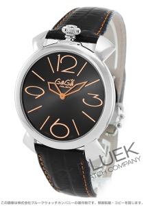 ガガミラノ マヌアーレ シン46MM リザードレザー 腕時計 ユニセックス GaGa MILANO 5090.02