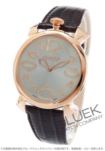 ガガミラノ マヌアーレ シン46MM リザードレザー 腕時計 メンズ GaGa MILANO 5091.04