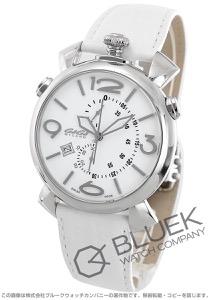 ガガミラノ シン クロノ46MM クロノグラフ リザードレザー 腕時計 メンズ GaGa MILANO 5097.02WH
