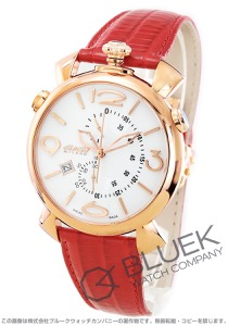 ガガミラノ シン クロノ46MM クロノグラフ リザードレザー 腕時計 メンズ GaGa MILANO 5098.01