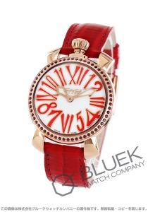 ガガミラノ マヌアーレ35MM リザードレザー 腕時計 レディース GaGa MILANO 6026.02