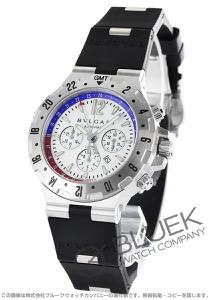 ブルガリ ディアゴノ プロフェッショナル エア クロノグラフ GMT 腕時計 メンズ BVLGARI GMT40SVD/FB
