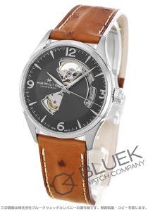 ハミルトン ジャズマスター ビューマチック オープンハート オーストリッチレザー 腕時計 メンズ HAMILTON H32705581