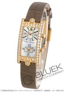ハリーウィンストン アヴェニューC デュアルタイム ダイヤ アリゲーターレザー 腕時計 レディース Harry Winston AVCQTZ19RR001