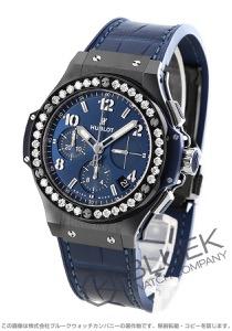 ウブロ ビッグバン セラミック クロノグラフ ダイヤ アリゲーターレザー 腕時計 ユニセックス HUBLOT 341.CM.7170.LR.1204