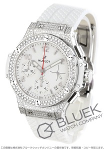 ウブロ ビッグバン スチールホワイト パヴェ クロノグラフ ダイヤ 腕時計 ユニセックス HUBLOT 342.SE.230.RW.174