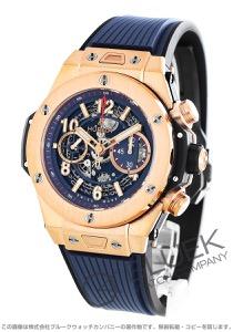 ウブロ ビッグバン ウニコ キングゴールド ブルー 金無垢 クロノグラフ 腕時計 メンズ HUBLOT 411.OX.5189.RX
