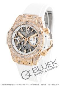 ウブロ ビッグバン ウニコ チタニウム キングゴールド 金無垢 ホワイトパヴェ クロノグラフ ダイヤ 腕時計 メンズ HUBLOT 441.OE.2010.RW.1704