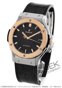 ウブロ クラシック フュージョン チタニウム キングゴールド アリゲーターレザー 腕時計 メンズ HUBLOT 511.NO.1181.LR
