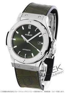 ウブロ クラシック フュージョン チタニウム グリーン アリゲーターレザー 腕時計 メンズ HUBLOT 511.NX.8970.LR