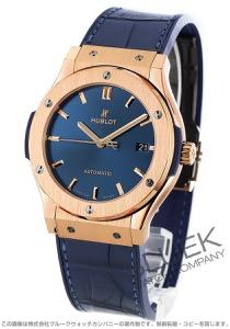 ウブロ クラシック フュージョン キングゴールド ブルー 金無垢 アリゲーターレザー 腕時計 メンズ HUBLOT 511.OX.7180.LR