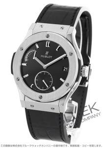 ウブロ クラシック フュージョン 8デイズ チタニウム パワーリザーブ アリゲーターレザー 腕時計 メンズ HUBLOT 516.NX.1470.LR