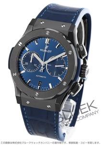 ウブロ クラシック フュージョン セラミック ブルー クロノグラフ アリゲーターレザー 腕時計 メンズ HUBLOT 521.CM.7170.LR
