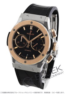 ウブロ クラシック フュージョン チタニウム キングゴールド クロノグラフ アリゲーターレザー 腕時計 メンズ HUBLOT 521.NO.1181.LR