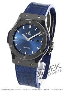 ウブロ クラシック フュージョン セラミック ブルー アリゲーターレザー 腕時計 メンズ HUBLOT 542.CM.7170.LR