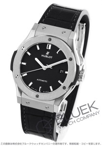 ウブロ クラシック フュージョン チタニウム アリゲーターレザー 腕時計 メンズ HUBLOT 542.NX.1171.LR