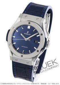 ウブロ クラシック フュージョン チタニウム アリゲーターレザー 腕時計 メンズ HUBLOT 542.NX.7170.LR