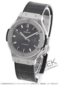 ウブロ クラシック フュージョン チタニウム アリゲーターレザー 腕時計 ユニセックス HUBLOT 565.NX.7071.LR
