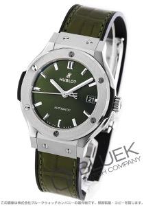 ウブロ クラシック フュージョン チタニウム アリゲーターレザー 腕時計 ユニセックス HUBLOT 565.NX.8970LR