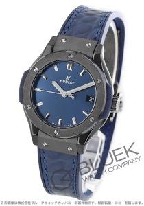 ウブロ クラシック フュージョン セラミック ブルー アリゲーターレザー 腕時計 レディース HUBLOT 581.CM.7170.LR