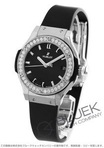 ウブロ クラシック フュージョン チタニウム ダイヤ 腕時計 レディース HUBLOT 581.NX.1171.RX.1104