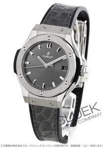 ウブロ クラシック フュージョン レーシング チタニウム アリゲーターレザー 腕時計 レディース HUBLOT 581.NX.7071.LR