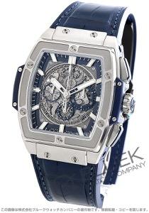 ウブロ スピリット オブ ビッグバン チタニウム ブルー クロノグラフ アリゲーターレザー 腕時計 メンズ HUBLOT 601.NX.7170.LR