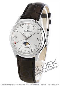 ジャガールクルト マスター カレンダー ムーンフェイズ アリゲーターレザー 腕時計 メンズ Jaeger-LeCoultre Q1558420
