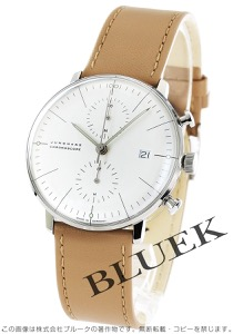 ユンハンス マックスビル クロノスコープ クロノグラフ 腕時計 メンズ JUNGHANS 027/4600.00B
