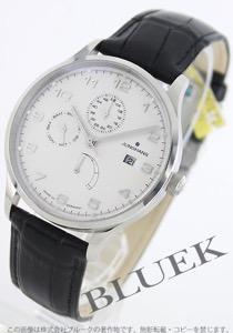 ユンハンス マイスター アタッシェ パワーリザーブ クロコレザー 腕時計 メンズ JUNGHANS 027/4760.00