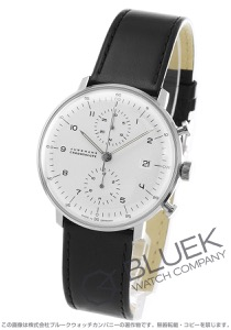 ユンハンス マックスビル クロノスコープ クロノグラフ 腕時計 メンズ JUNGHANS 027/4800.00